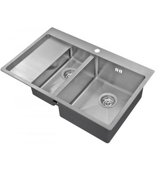 Кухонная мойка Zorg R 5178-2 R Матовая сталь