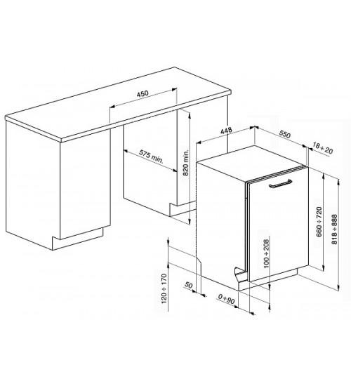 Встраиваемая посудомоечная машина Smeg STA4505