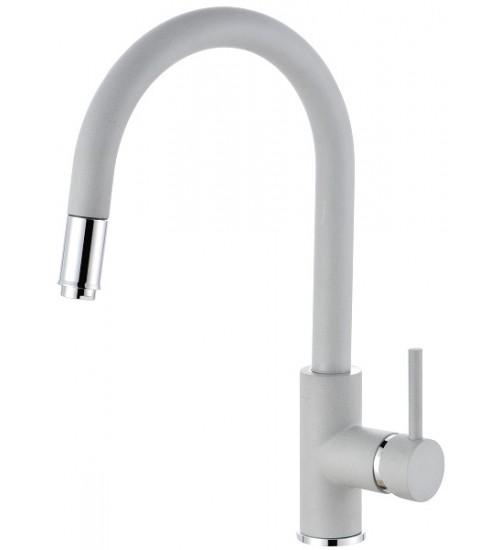 Кухонный смеситель Alveus Delos-P G81 Concrete (выдвижной шланг) 1129019