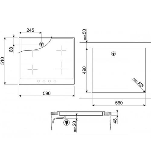 Встраиваемая электрическая панель Smeg P864PO