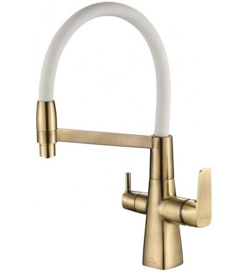 Кухонный смеситель Zorg Steel Hammer SH 818-8 Бронза/Белый