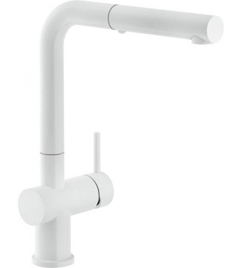 Кухонный смеситель Franke Active Plus Белый матовый (Выдвижной душ)