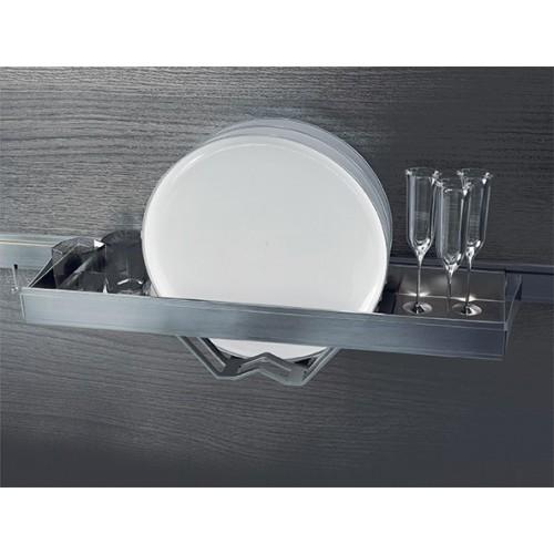 Полка для сушки тарелок Lemi Barra 7195Е 550х160х95 мм, нержавеющая сталь
