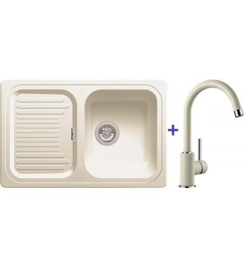 Комплект мойка Blanco Classic 45 S + смеситель Blanco Mida (SilGranit) Жасмин