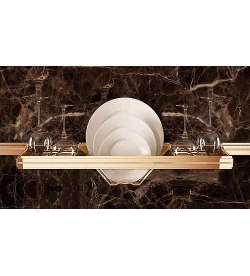 Полка для сушки тарелок Lemi Barra 71956 550х160 мм, золото + кристаллы Swarovski