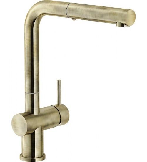 Кухонный смеситель Franke Active Plus Античное золото (Выдвижной душ)