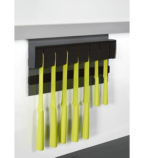 Держатель для ножей магнитный Kessebohmer 00 8906 9844, 350х45х200 мм, черный графит