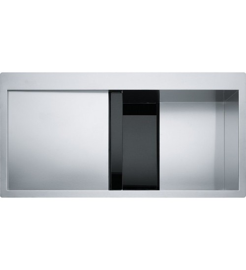 Кухонная мойка Franke Crystal CLV 214 R Черное стекло