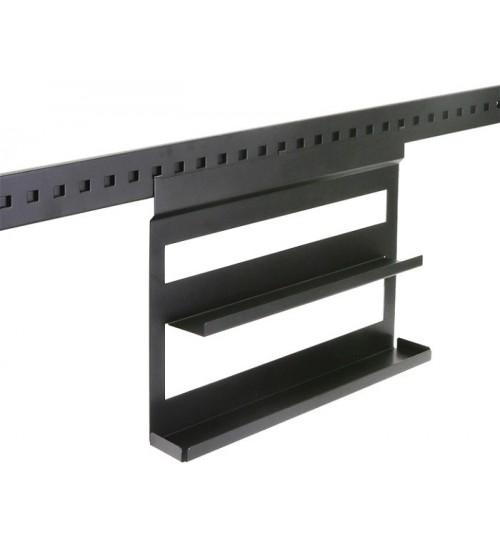 Полка для специй двухуровневая Поконар 400х75х320 мм, отделка черный бархат (матовый) 1A.3005.9005