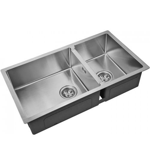 Кухонная мойка Zorg R 78-2-44 Матовая сталь
