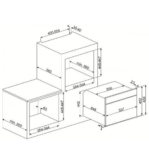 Электрический духовой шкаф Smeg SF4920MCX1
