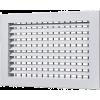 Однорядные регулируемые алюминиевые решетки
