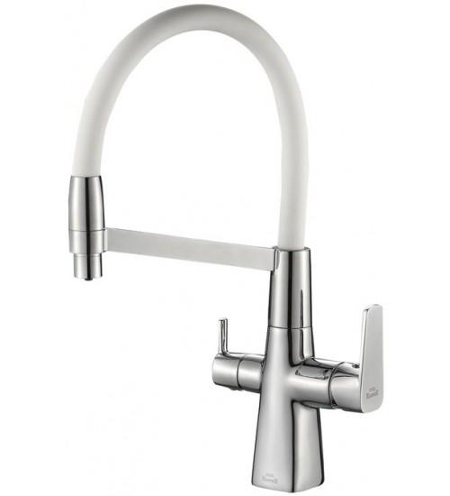 Кухонный смеситель Zorg Steel Hammer SH 818-8 Chrome/White