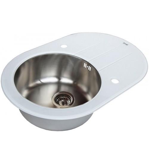 Кухонная мойка Zorg GL 5077 OV White