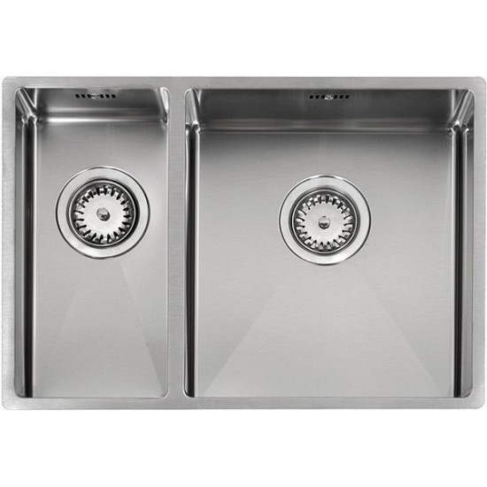 Кухонная мойка Reginox Florida 18x37+34x37 L Lux Полированная нержавеющая сталь