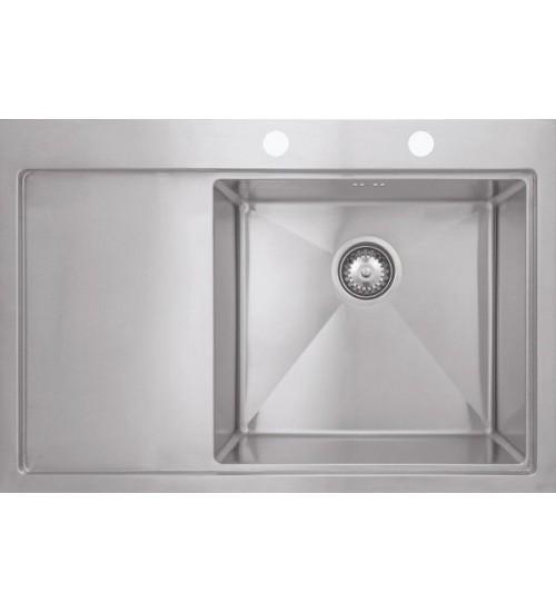 Кухонная мойка Seaman Eco Marino SMB-7852LSK, вентиль-автомат, коландер SSA-A100