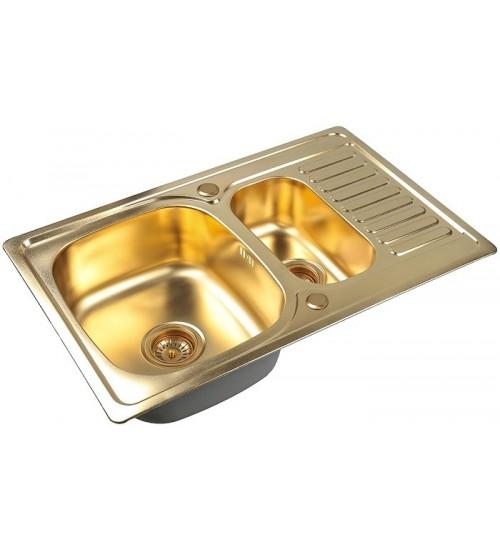 Кухонная мойка Zorg SZR 78-2-50 Bronze