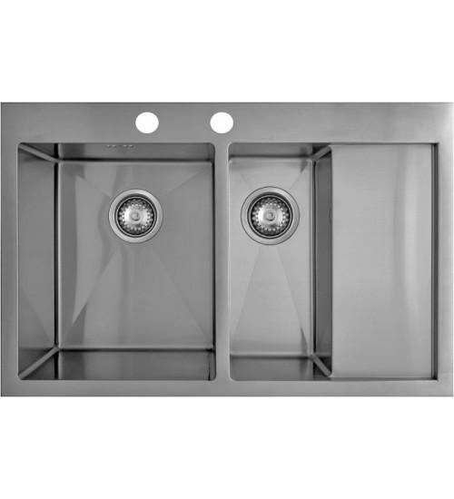 Кухонная мойка Seaman Eco Marino SMB-7851DRS, вентиль-автомат