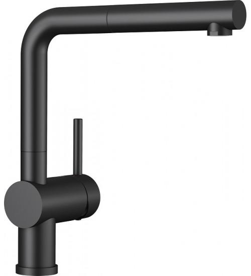 Кухонный смеситель Blanco Linus-S Черный (керамика) 516708