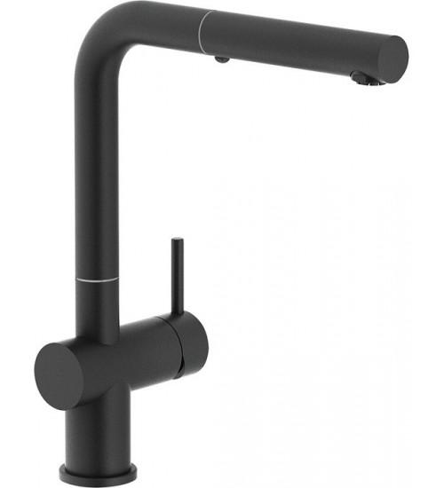 Кухонный смеситель Franke Active Plus Черный матовый (Выдвижной душ)