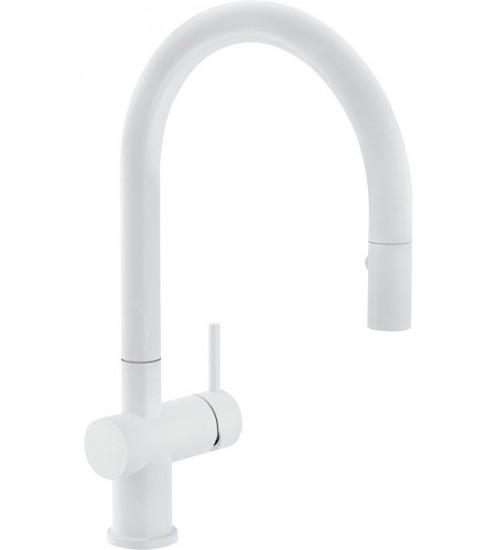 Кухонный смеситель Franke Active Neo Белый матовый (Выдвижной душ)