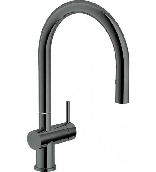 Кухонный смеситель Franke Active Neo Черный хром (Выдвижной душ)