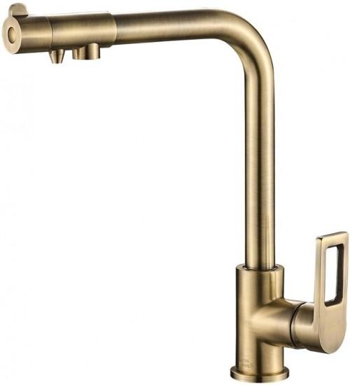 Кухонный смеситель Zorg Steel Hammer SH 572 Бронза