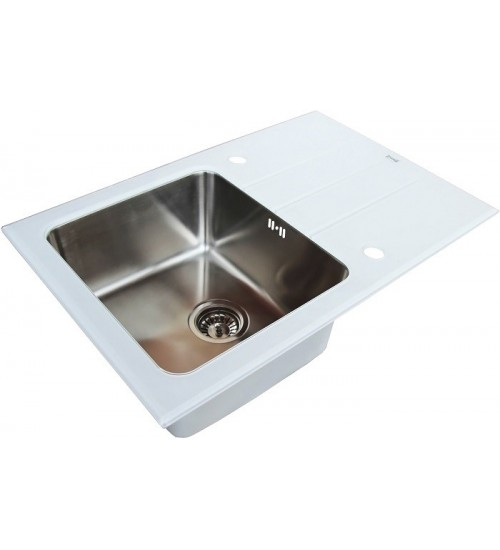 Кухонная мойка Zorg GL 5077 White