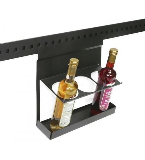 Полка-держатель для трех бутылок Поконар 316х137х320 мм, отделка черный бархат (матовый) 1A.3009.9005