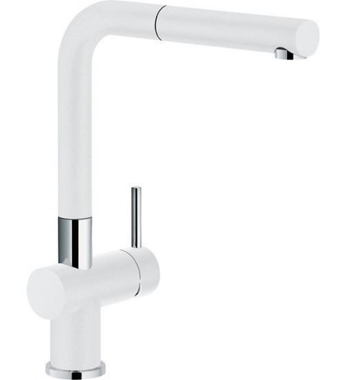Кухонный смеситель Franke Active Plus Белый (Выдвижной душ)