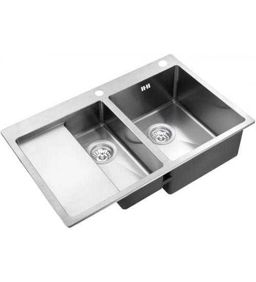 Кухонная мойка Zorg RX 5178-2 R Матовая сталь