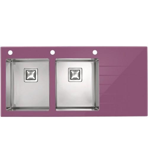 Мойка Alveus Crystalix 30 L Фиолетовый