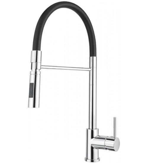 Кухонный смеситель Alveus Lyra-S CHR Хром (выдвижной шланг) 1132184