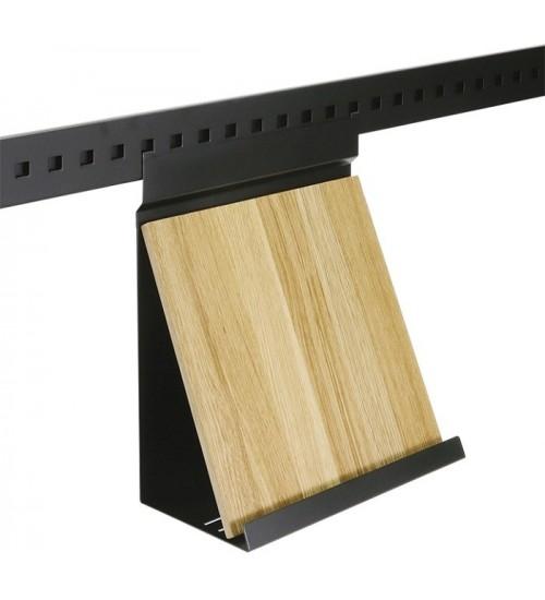 Полка для планшета с вкладышем дуб Поконар 250х150х320 мм, отделка черный бархат (матовый) П-08.9005