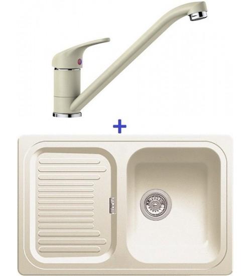 Комплект мойка Blanco Classic 45 S + смеситель Blanco Daras (SilGranit) Жасмин