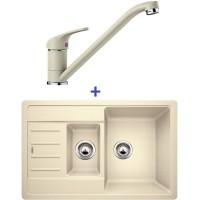 Комплект мойка Blanco Legra 6 S Compact + смеситель Blanco Daras (SilGranit) Жасмин