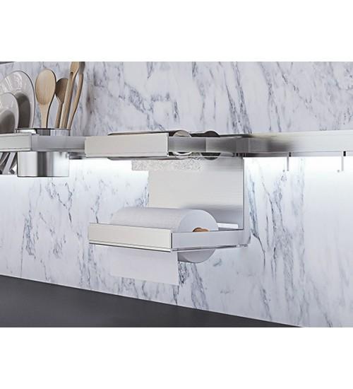Двухуровневый держатель для бумажных рулонов и фольги Lemi Barra 7120Е 380х160х184 мм, нержавеющая сталь