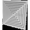 Приточно-вытяжные потолочные решетки диффузорного типа