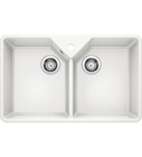 Кухонная мойка Blanco Villae Double керамика, глянцевый белый