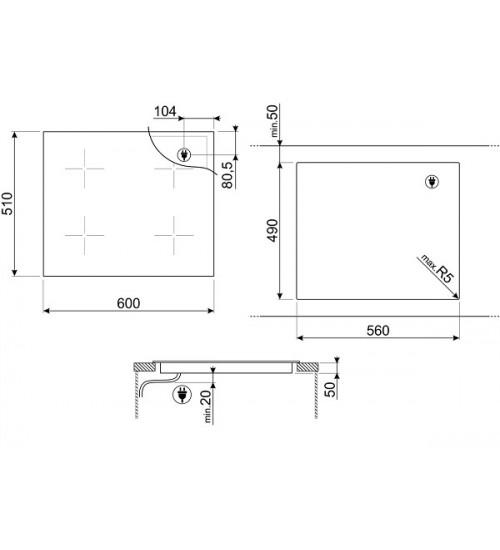Встраиваемая индукционная панель Smeg SIM662WLDX