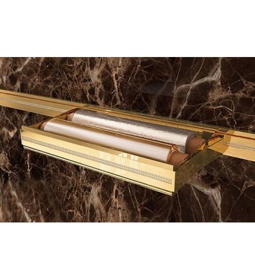 Держатель пищевой пленки Lemi Barra 72006 380х110 мм, золото + кристаллы Swarovski