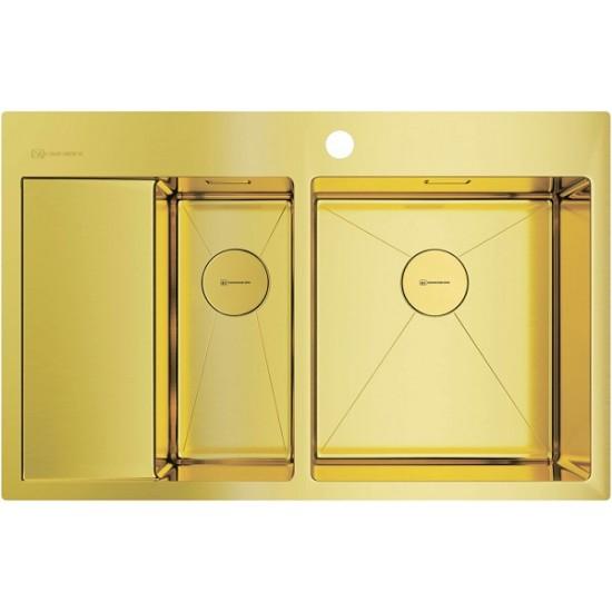 Мойка Omoikiri Akisame 78-2-LG-R Светлое золото