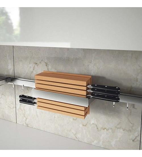 Держатель для ножей вертикальный Lemi Barra 7130Е 350х110х205 мм, нержавеющая сталь