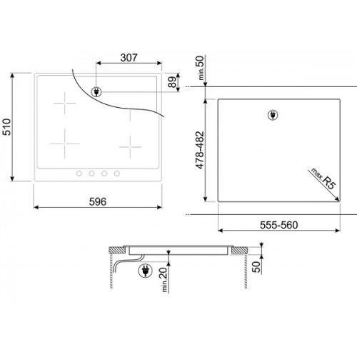 Встраиваемая индукционная панель Smeg PI964P