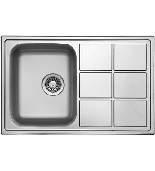 Кухонная мойка Florentina Профи 780.500 Нержавеющая сталь декор