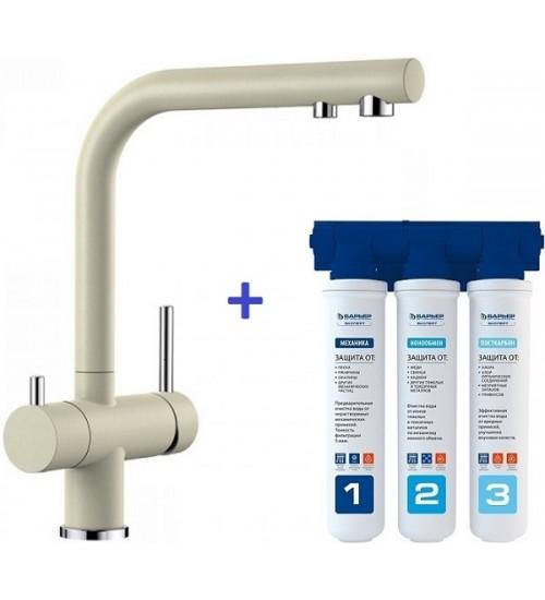 Комплект смеситель Blanco Fontas II Жасмин + фильтр для воды BWT-Барьер Эксперт