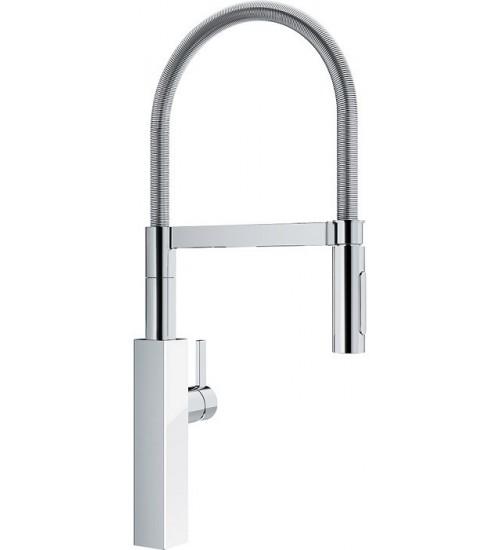 Кухонный смеситель Franke Crystal Хром/Белый (Выдвижной душ)