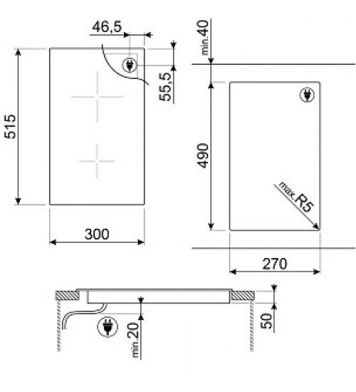Встраиваемая индукционная панель Smeg SI5322B