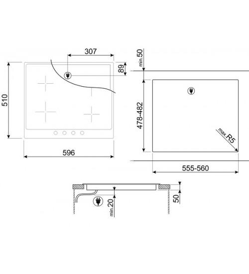 Встраиваемая индукционная панель Smeg PI964X