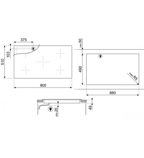 Встраиваемая индукционная панель Smeg SI2M7953D